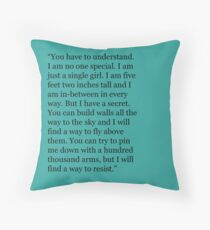 Lena Haloway Quote - Delirium Trilogy Throw Pillow