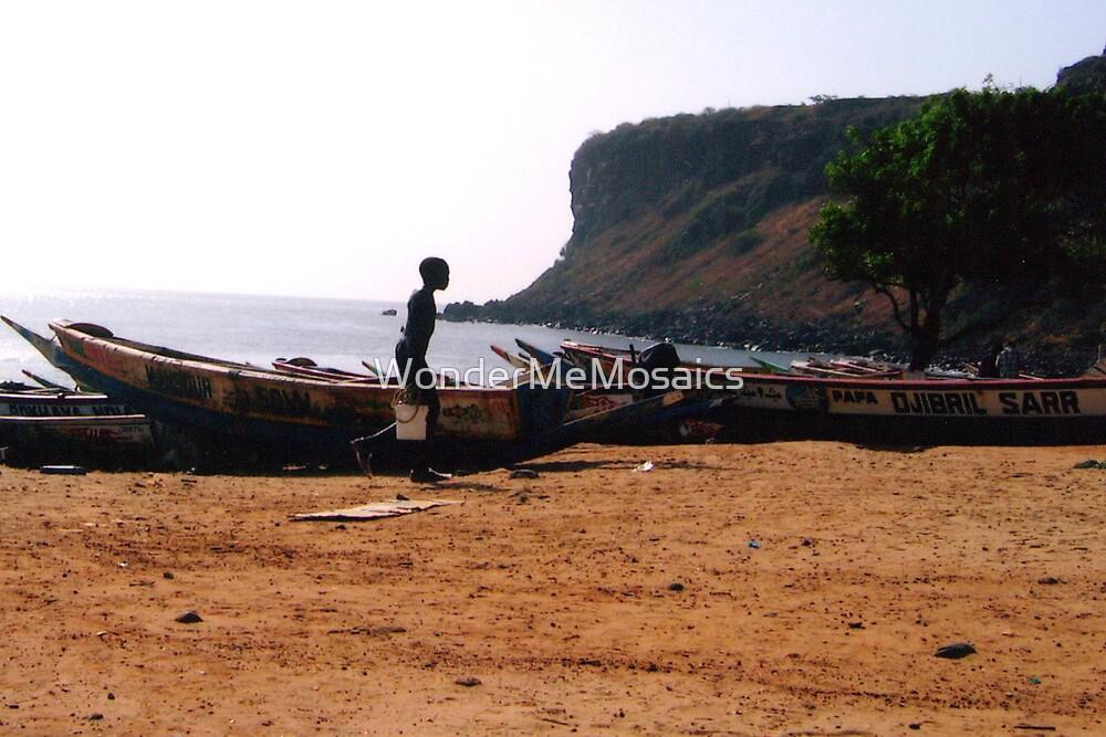 West African Beach - Print by WonderMeMosaics