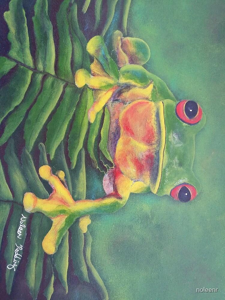 Green tree frog by noleenr