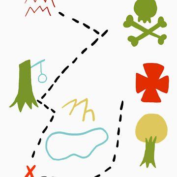 Peter Pan Map by littlelead