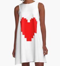 Undertale Heart A-Line Dress