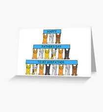 Cats wishing Godfather Happy Father's Day Greeting Card