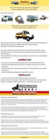 Septic tank pump truck by keevac