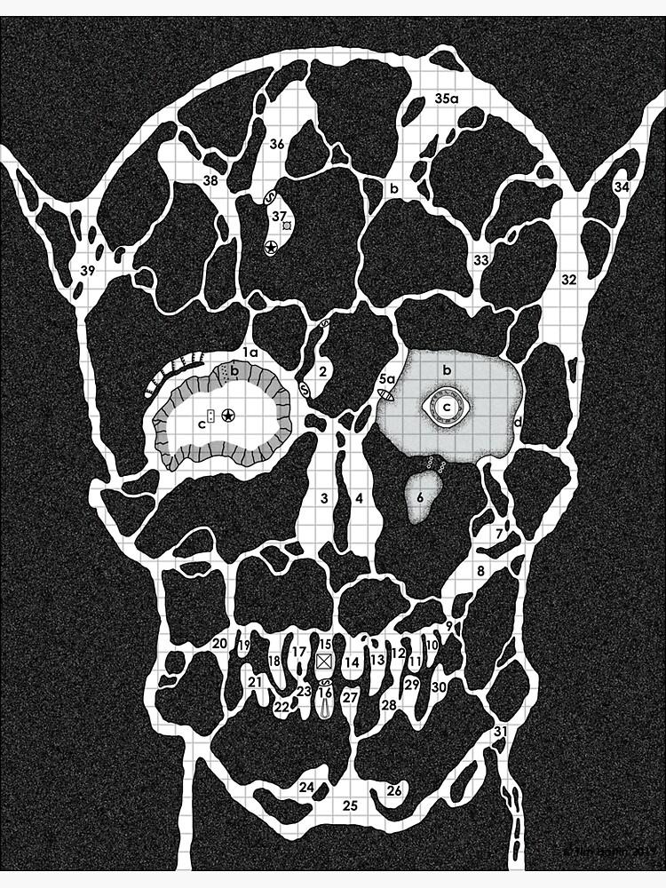 Devil Face Cave Map by Paratime-Design