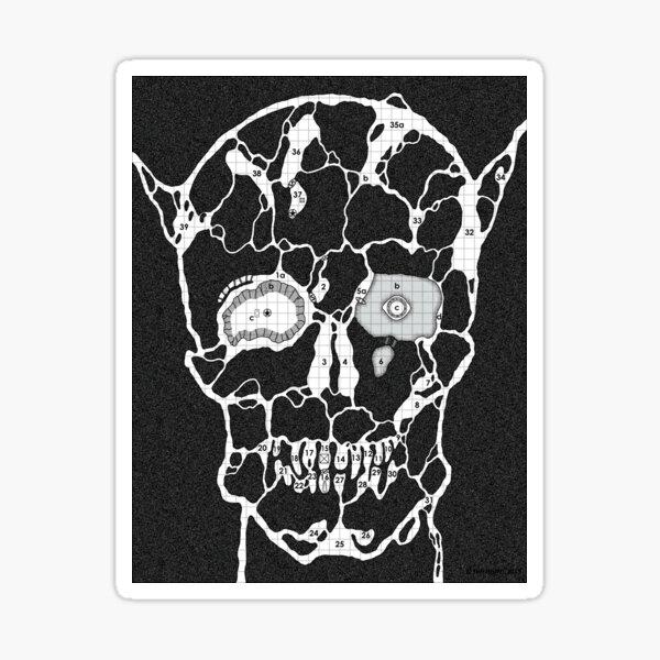 Devil Face Cave Map Sticker