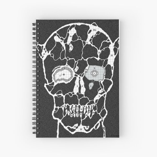Devil Face Cave Map Spiral Notebook