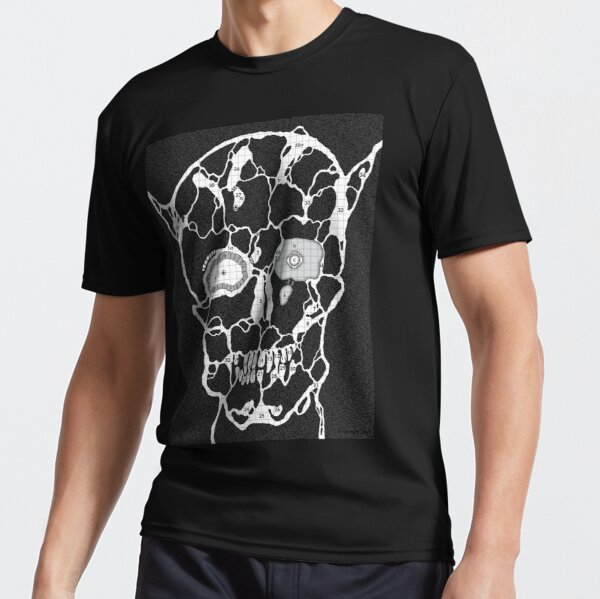 Devil Face Cave Map Active T-Shirt
