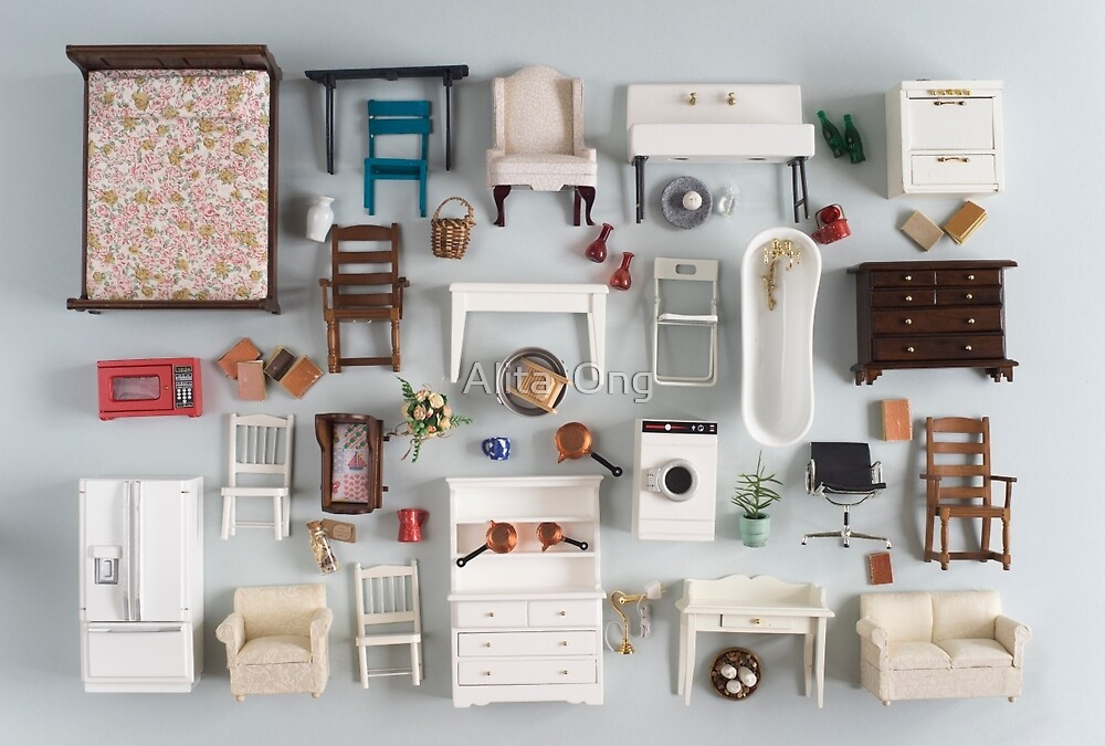 Miniature furniture by Alita  Ong