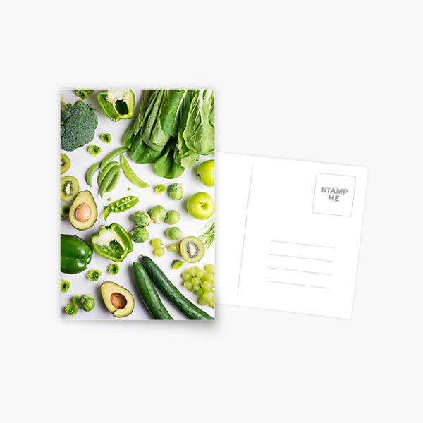 Green food on white Postcard