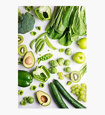 Green food on white Photographic Print