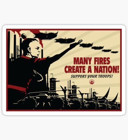 Many Fires Create A Nation Sticker