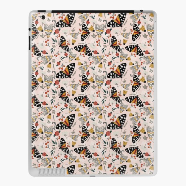 Vintage Inspired Moth Butterfly on Blush iPad Skin