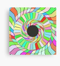 Colorful whirlpool abstract design Canvas Print