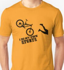 I Do My Own Stunts Funny Mountain Bike T-Shirt