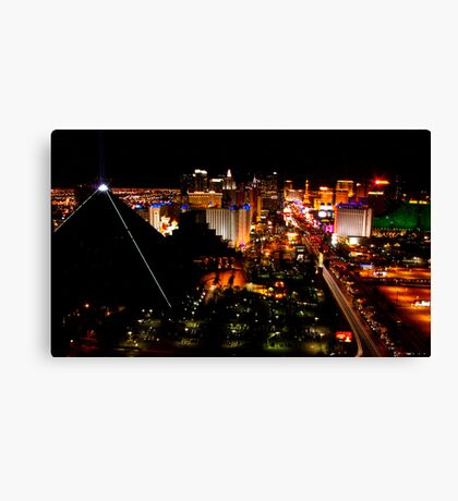 Luxor and The Strip Canvas Print