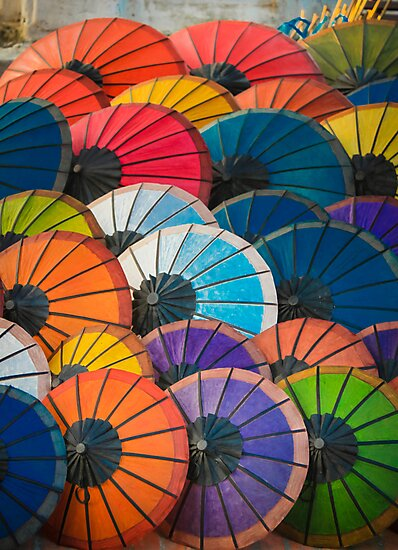Rainbow Parasols by BonnieSanan