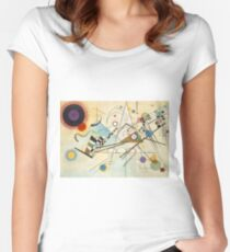 Kandinsky painting Women's Fitted Scoop T-Shirt