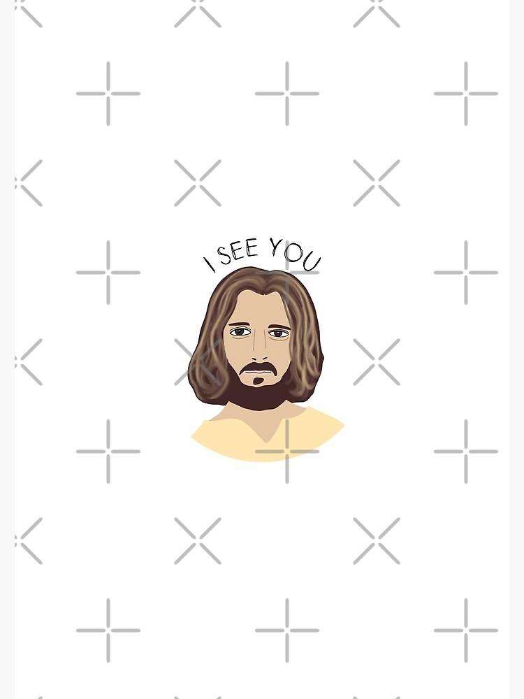 Jesus Cartoon I See You by mydabug