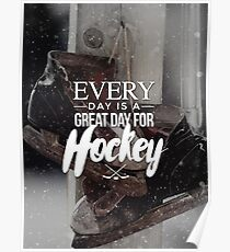A Great Day for Hockey Poster