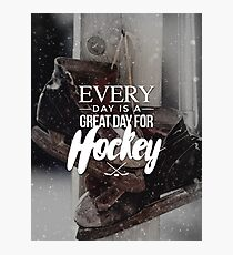 A Great Day for Hockey Photographic Print