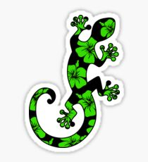 Gecko, lizard, Hawaii, aloha, surf, beach, summer, party, water sports Sticker