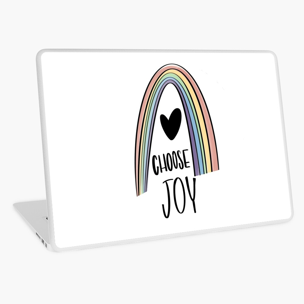 Choose Joy Rainbow and Heart Laptop Skin