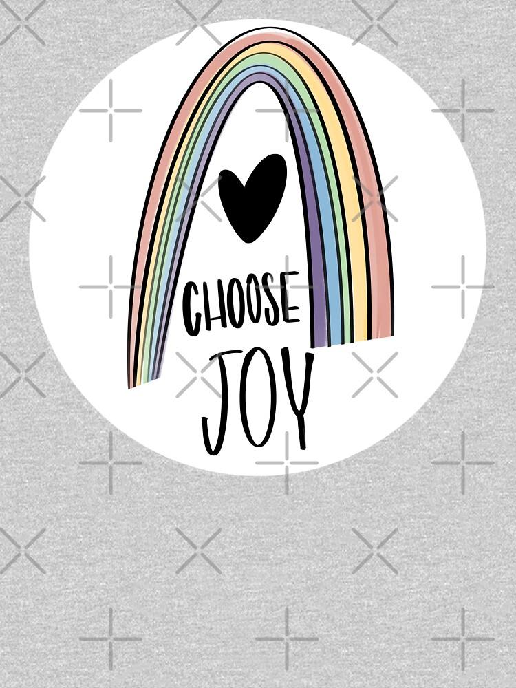 Choose Joy Rainbow and Heart by mydabug
