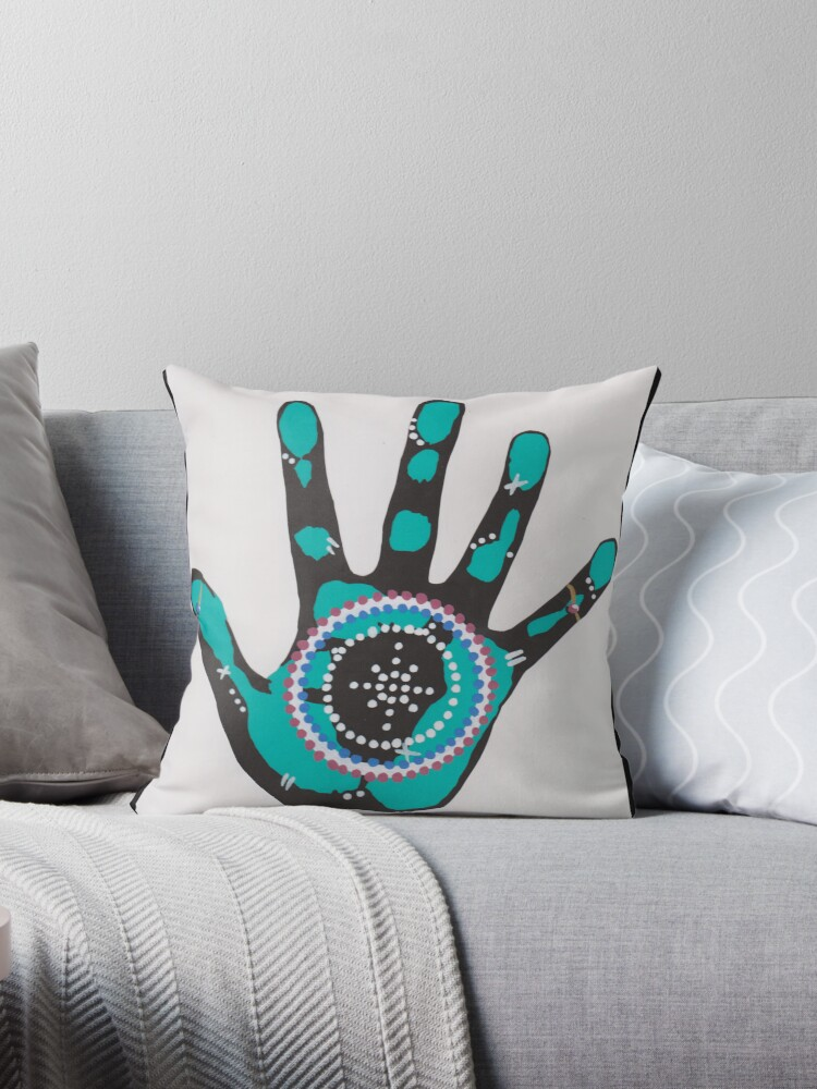 Hand Print Turquoise by Kyobe