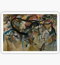 Abstract Kandinsky Painting Sticker