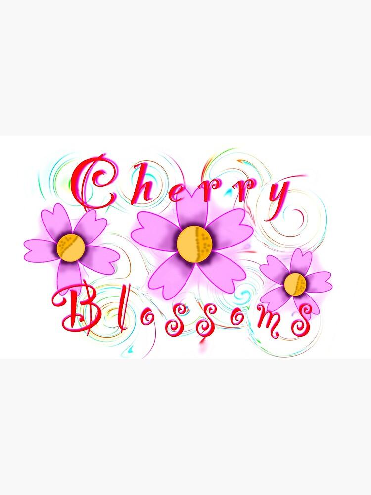Cherry Blossom Swirl Art by MythicalArts8