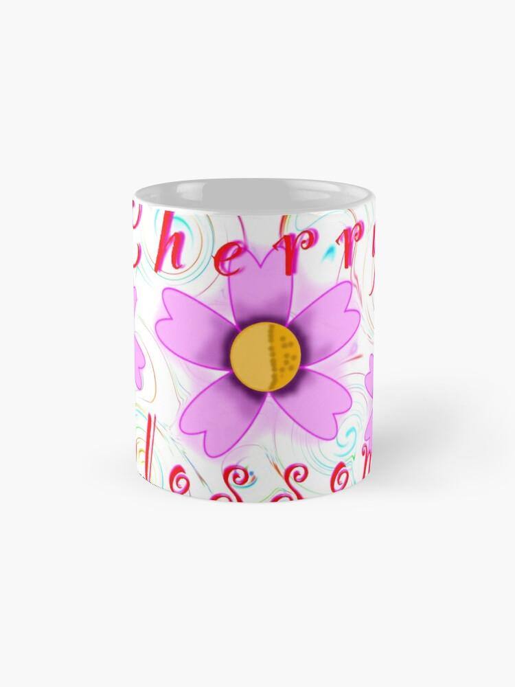 Alternate view of Cherry Blossom Swirl Art Mug
