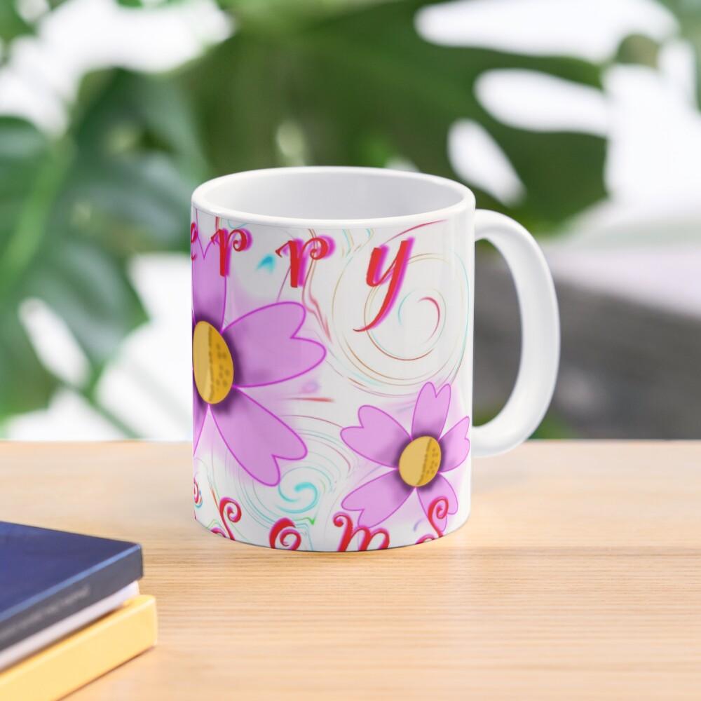 Cherry Blossom Swirl Art Mug