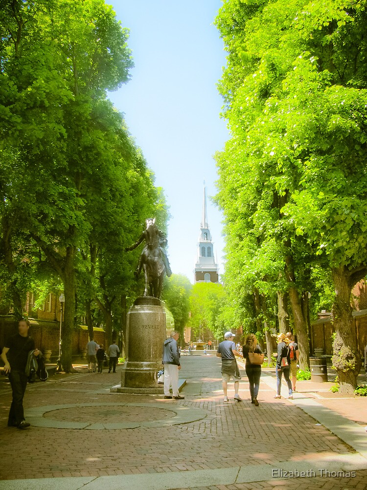 Old North Church, North End, Boston, Massachusetts by Elizabeth Thomas