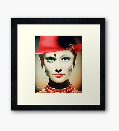 Wear your hat with pride Framed Print