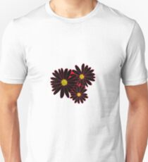 Black and Red Daisy/Flower Unisex T-Shirt
