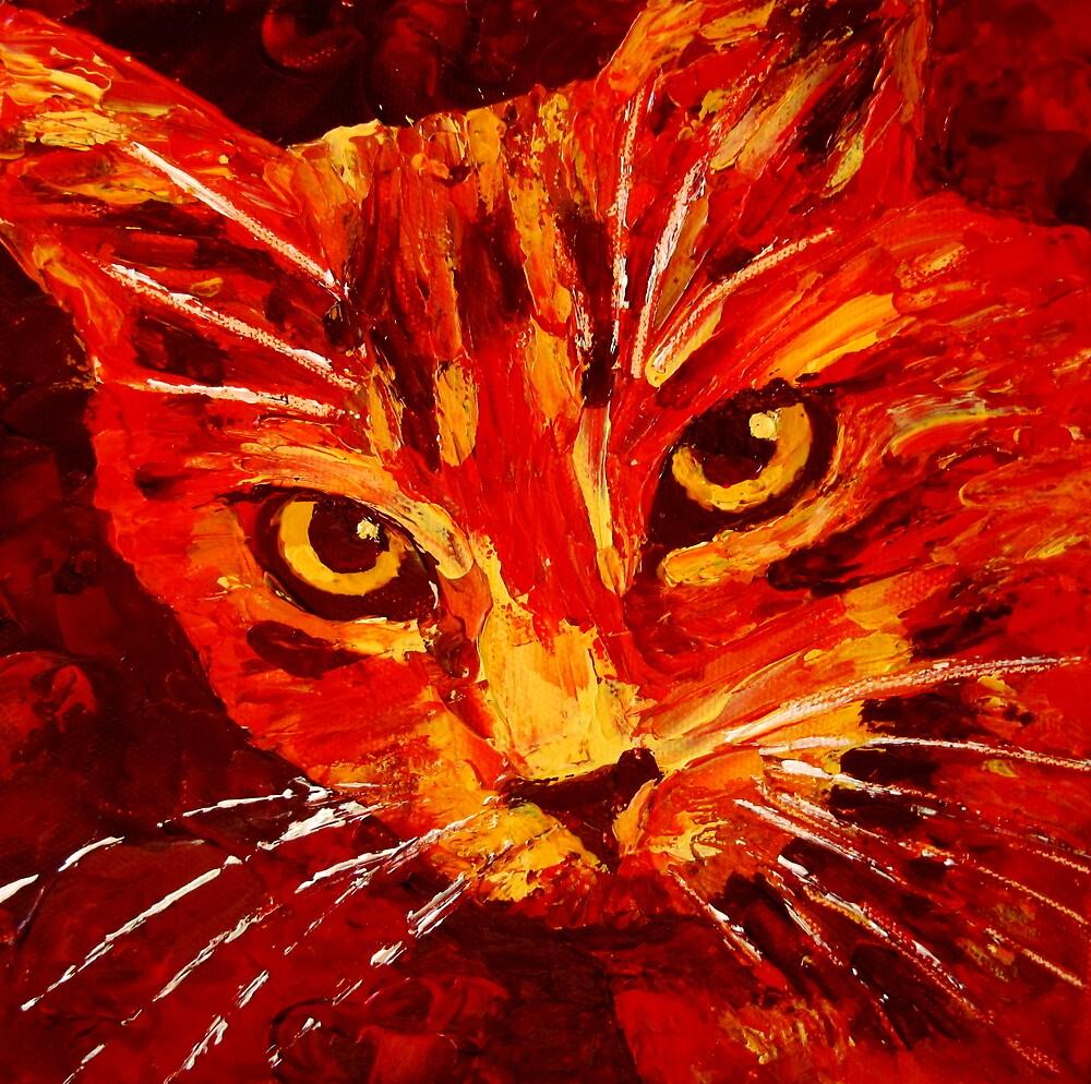 Orange Cat by Megan Proverbs
