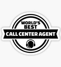 World's best call center agent Sticker