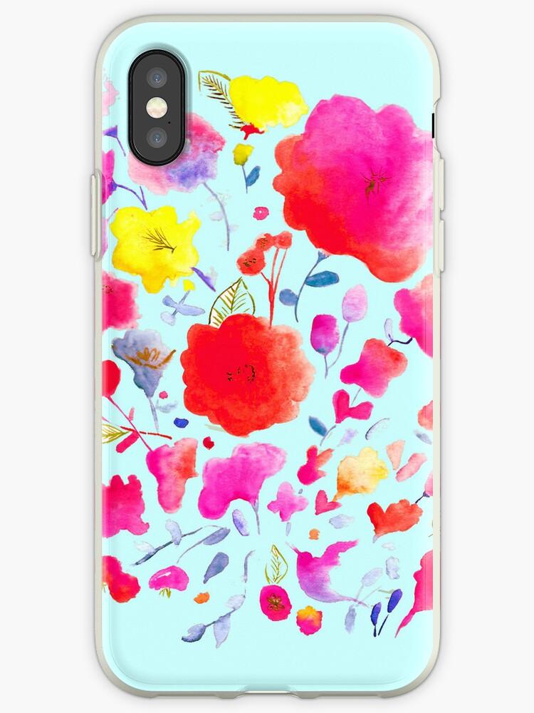 Watercolour flowers by Susanna Olmi
