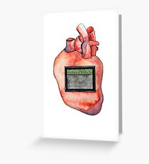 "Modern Love Heart - ""Dating"" Greeting Card"