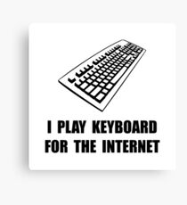 Keyboard Internet Canvas Print