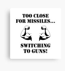 Missiles To Guns Biceps Canvas Print