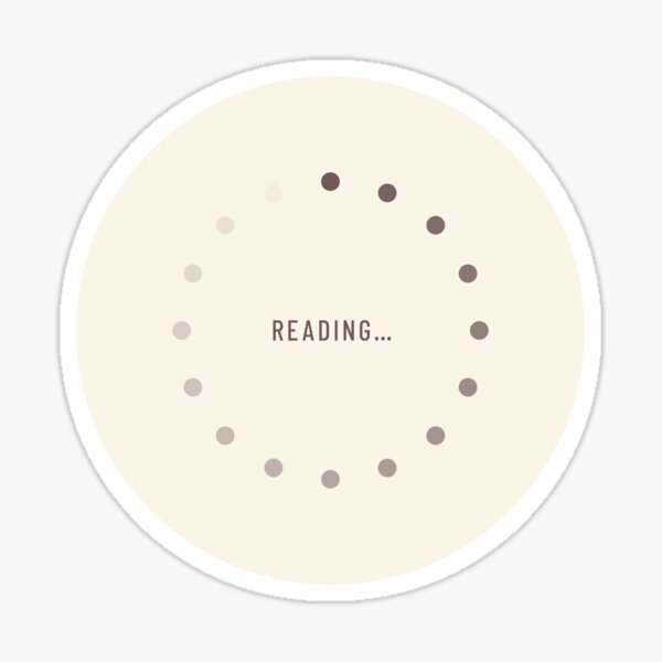 Reading-Loading Icon (Latte Edition) Sticker