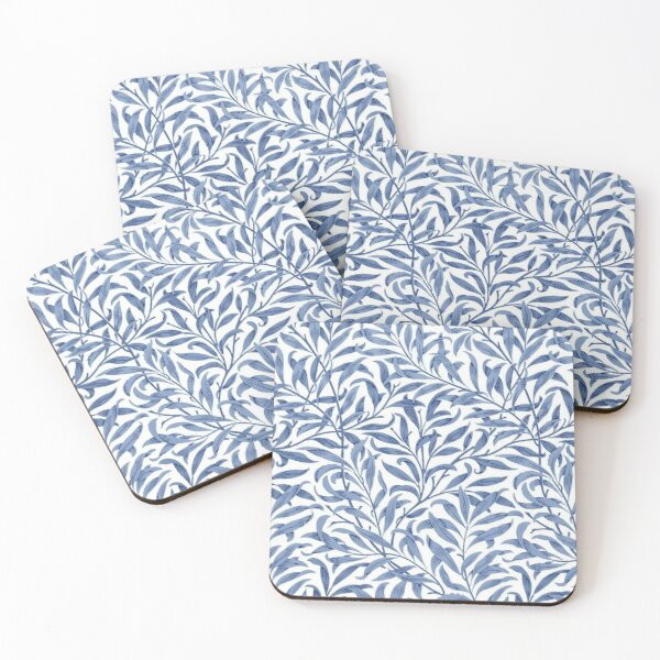 William Morris Willow Bough Blue & White Pattern Coasters (Set of 4)