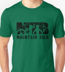 Mountain Bike Distressed and Vintage MTB Unisex T-Shirt