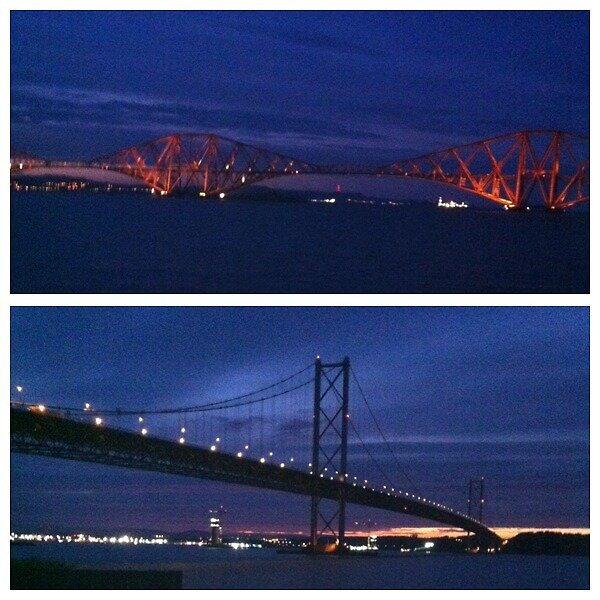 Forth Rail and Road Bridge by AJAnfield