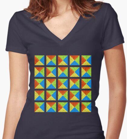 #DeepDream color factures #Art Fitted V-Neck T-Shirt