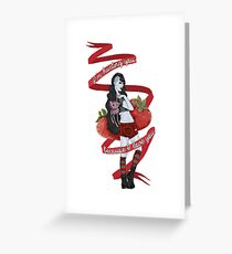 Marceline: I eat shades of red Greeting Card