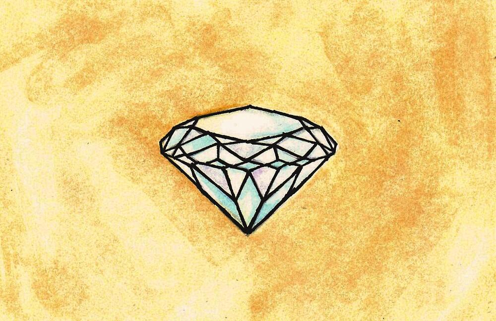 Watercolour Crystal by Zoe  Conroy