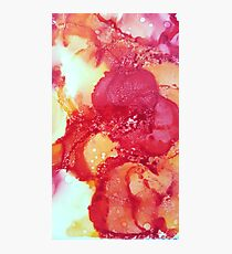 Alcohol Ink Red Flower Photographic Print
