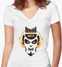 Dj head Women's Fitted V-Neck T-Shirt